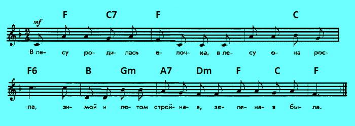 Елочка - аккорды