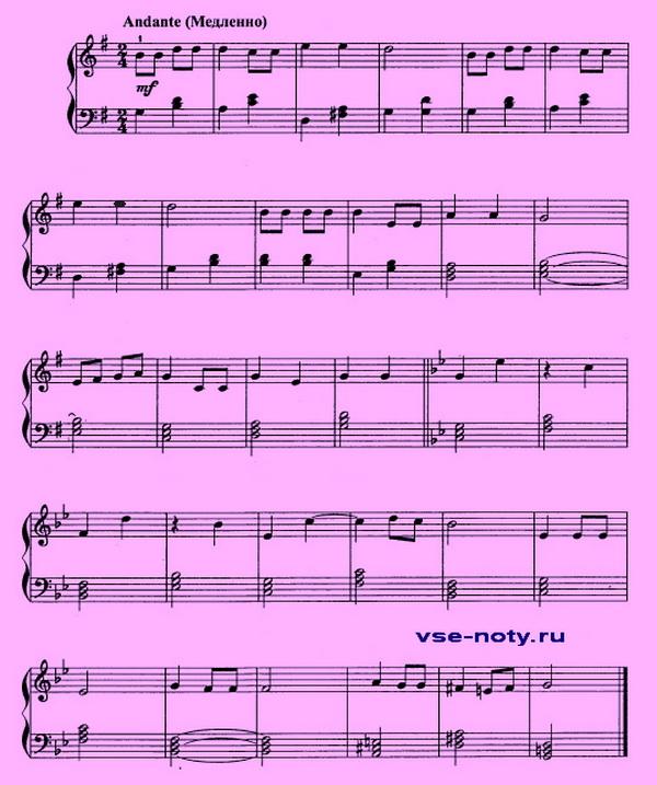 Детские Песни Для Фортепиано