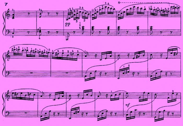 Ноты для фортепиано К Элизе