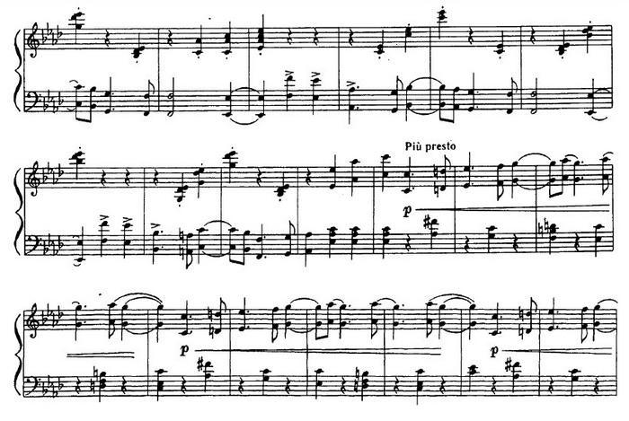 Вальс ноты Чайковский